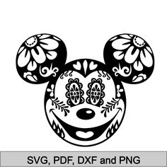 Mickey Sugar Skull svg diy Family Sugar Skull t-shirt Sugar Skull Iron On Files for Cutting Machines svg pdf dxf Disney Sugar Skull svg – Fondo de mickey mouse - Malvorlagen Mandala Disney Diy, Disney Crafts, Disney Trips, Vinyl Crafts, Vinyl Projects, Silhouettes Disney, Coloring Books, Coloring Pages, Free Svg