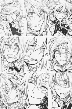 Allen Walker (アレン・ウォーカー), Moyashi (Bean Sprout, Kiełek fasoli), The Destroyer of time, Baka Deshi (Idiot Apperentice) Allen Walker, Manga Art, Manga Anime, Anime Art, D Gray Man Allen, Chibi, Comic Layout, Image Manga, Hot Anime Guys