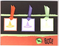 Witches' Hats by jeniferj - Cards and Paper Crafts at Splitcoaststampers