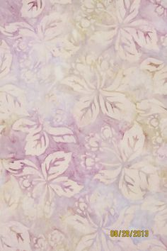 "Batik Fabric by Robert Kaufman:""Coventry Court""  Pastel Floral Batik on Etsy, £3.21"