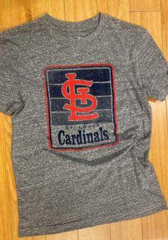 New Era St Louis Cardinals Grey Throwback Brushed Short Sleeve T Shirt - 59005130 Stl Cardinals, St Louis Cardinals, Temporary Store, Great Books, Short Sleeve Tee, Saints, Blues, Grey, Sweatshirts