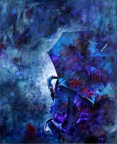 """Rainy Day Blues"" 24x30"" Acrylic on Canvas  The Art of Marianne Morris: Rainy Day Blues"