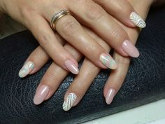 #almond #pastel #nude #gel #nails