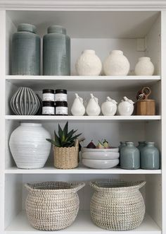 Shelf styling with our new range luxury Kitchen Tiles, Kitchen Flooring, Ikea White Shelves, Hudson Homes, Dinner Room, Welcome To My House, Shelf Design, Room Accessories, Home And Living
