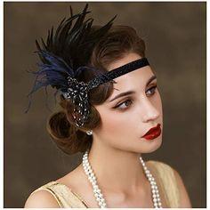 Great Gatsby Makeup, Great Gatsby Headpiece, Flapper Headpiece, Gatsby Headband, 1920s Makeup Gatsby, Roaring 20s Makeup, 1920s Makeup Look, Flapper Costume, Vintage Makeup