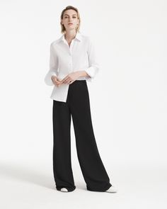 The Husband Shirt casually paired with the Kiki Pant Classy Outfits, Classy  Clothes, Work 851220dc853