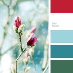 christmas color palettes | blue color, fuchsia color, color palette, color combination