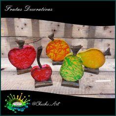 Frutas decorativas de 15 cm de ancho, acabado texturizado brillante.  1/5. Otra creación @chucho-art recuerda darle like, comentar y compartir todo lo que te guste!! #cherry #fruits #frutas #cereza #mango #apple #pear #cherry #art #arte #red #colors