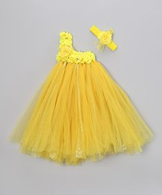 Take a look at this Sunshine Blossom Tutu Dress & Headband - Infant, Toddler & Girls by Bébé Oh La La on #zulily today!