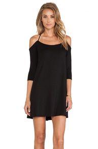 Black Off The Shoulder Cross Back Dress