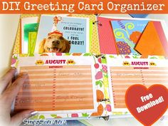 A fun way to keep your greeting cards organized!  Free download! #ValueCards #shop #crafts