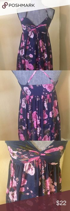 Dress Floral purple/pink sheer dress. Can be worn as a top, with leggings or even to bed Free People Intimates & Sleepwear
