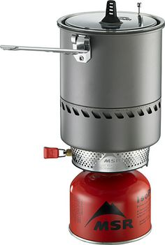 MSR Reactor - The World's Fastest and Most Fuel Efficient Stove. Ever. Th combination stove and cookware unit uses a radiant burner and heat exchanger for unmatched abilities in any condition. Stove and fuel canister stow inside the pot. 1.7-Liter pot feeds 1-3 people. $160