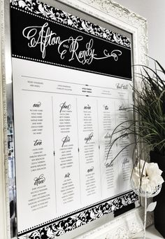 Damask Attitude Seating Chart in Black and White by Dandelion Willows Invitations + Stationery Seating Chart Wedding, Seating Charts, Surprise Wedding, Trendy Wedding, Wedding Ideas, Oriental Trading, Wedding Supplies, Damask, Photo Booth