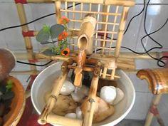 maravilhosa fonte feita de bambu