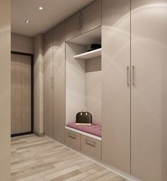 Nice hallway design What would you change? - Design Cointrend News Flur Design, Hall Design, Hallway Designs, Closet Designs, Room Interior, Interior Design Living Room, Wardrobe Design Bedroom, Hallway Furniture, House Entrance