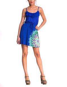 Desigual Olga - Vestido para mujer, color royal 5010, talla 36 Royal Blue Dresses, Color Azul, Knit Dress, Royals, Dresser, Summer Dresses, Style, Fashion, Royal Blue Gown