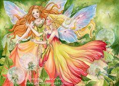 Dandelions fairy art by Janna Prosvirina