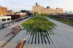 week The high line in New York is an other example of recycling in architecture. High line was an old railroad that wasn't in use. A great public space is created using the the old track. Landscape Architecture Design, Green Architecture, Landscape Architects, Residential Architecture, Architecture Courtyard, New York Architecture, Concrete Architecture, Architecture Diagrams, Architecture Wallpaper