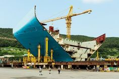 In pictures: building the world's largest container ship | WIRED UK