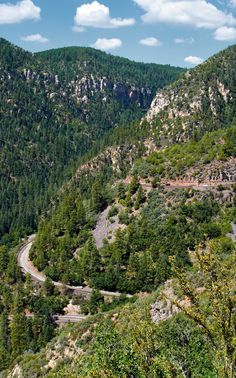 """Oak Creek Canyon ~ A fun drive from Flagstaff to Sedona or vice versa.  Lots of hairpin curves and sheer dropoffs.  Definitely a """"dramamine trip"""" for those who get a little woozy in the car."""