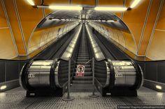 Metro Station in Prague, Czech Republic