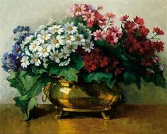 Find artworks by Jeanette Slager (Dutch, 1881 - on MutualArt and find more works from galleries, museums and auction houses worldwide. Flower Vases, Flower Art, Flowers, Copper Pots, Vincent Van Gogh, Still Life, Art Gallery, Bouquet, Landscape
