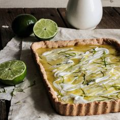 Lime Curd Tart with Coconut Whipped Cream - Home - Pastry Affair