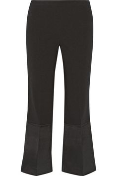 THEORY Satin-Paneled Crepe Wide-Leg Pants. #theory #cloth #pants