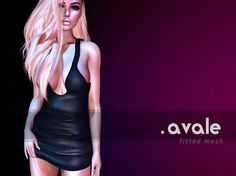 223ce7d4faf0 Avale Second Life Marketplace Dollarbie Gift AVALE GIFT – Fitted Mesh Dress  for Maitreya