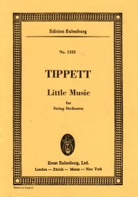 Tippett: Little Music for String Orchestra - Pocket Score. £3.99
