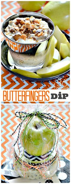 Butterfingers Dip... The yummiest treat and the cutest gift! Get the recipe at the36thavenue.com