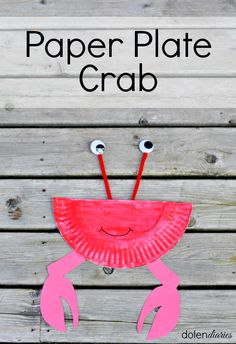 Paper Plate Crab kids craft idea #activity #craft