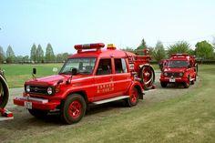 Japanese fire-trucks!! Toyota land cruiser 70-series.