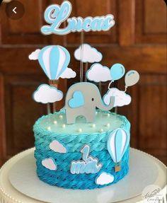 Elephant Baby Shower Cake, Baby Shower Cakes For Boys, Baby Boy Cakes, Baby Shower Decorations For Boys, Boy Baby Shower Themes, Baby Shower Fun, Baby Shower Balloons, Baby Shower Centerpieces, Elephant Theme