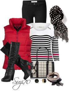 """""""Red White & Black"""" by suzi70 ❤ liked on Polyvore"""