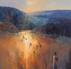 Mel Brigg 'Arriving through Barrington Tops' 153cm x 153cm