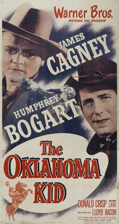 THE OKLAHOMA KID (1939) - James Cagney & Humphrey Bogart - Warner Bros. - Movie Poster.