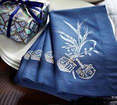 Hanukkah napkins & a tiny present.