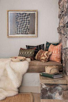 African wax print fabric cushions