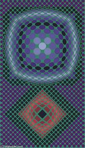 Untitled 14 - (Victor Vasarely)                                                                                                                                                     Plus