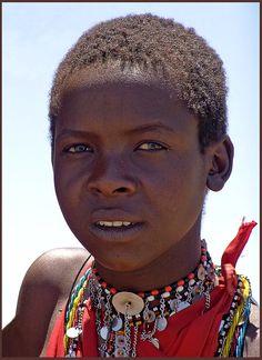 A Maasai boy (Kenya).
