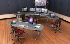 Creating Space for New Technology - Technical furniture for Broadcast, Video Production, Post-Production Edit, Security, Process Control and Dispatch Process Control, Studio Furniture, Video Production, Create Space, Consoles, Corner Desk, Technology, Building, Room