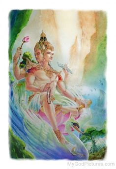 Brahma is the Hindu god of creation and one of the Trimurti, the others being Visnu and Siva. According to the Brahma Purana, he is the father of Manu, . Hindu Kunst, Hindu Art, Indian Gods, Indian Art, Spiritual Paintings, Lord Vishnu Wallpapers, Lord Shiva Painting, Buddha Art, Thai Art