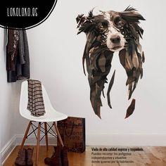 Vinilo decorativo para pared de silueta de un perro / Wall sticker of a dog shape · #vinilosdecorativos #lokolokodecora
