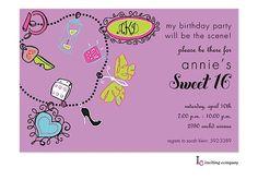 Sweet Sixteen (16) Party Invitation