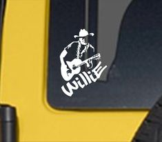 Excited to share this item from my #etsy shop: Willie vinyl decal, Willie vinyl sticker, Willie decal, Country music decal, country music legend, Willie, Willie and Trigger, Country music Outlaw Country, Country Music, Sports Decals, Vinyl Decals, Kayak Stickers, Stylish Words, Motorcycle Decals, Types Of Organisation, Kayak Fishing