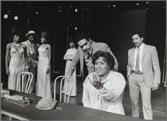 Sheryl Lee Ralph, Cleavant Derricks, Loretta Devine, Deborah Burrell, Ben Harney, Obba Babatunde and Jennifer Holliday in the stage production Dreamgirls From New York Public Library Digital Collections.