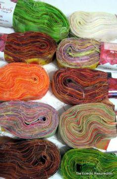 "Princess Mirah Bali Batik Strips 10 Packs 200 yds ¾"" Bright Colors Rag Rug Craft | eBay"