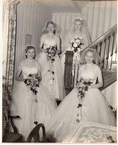 Vintage 8 x 10 Photo Pretty Bride Bridesmaid Wedding 1950's Sep | eBay